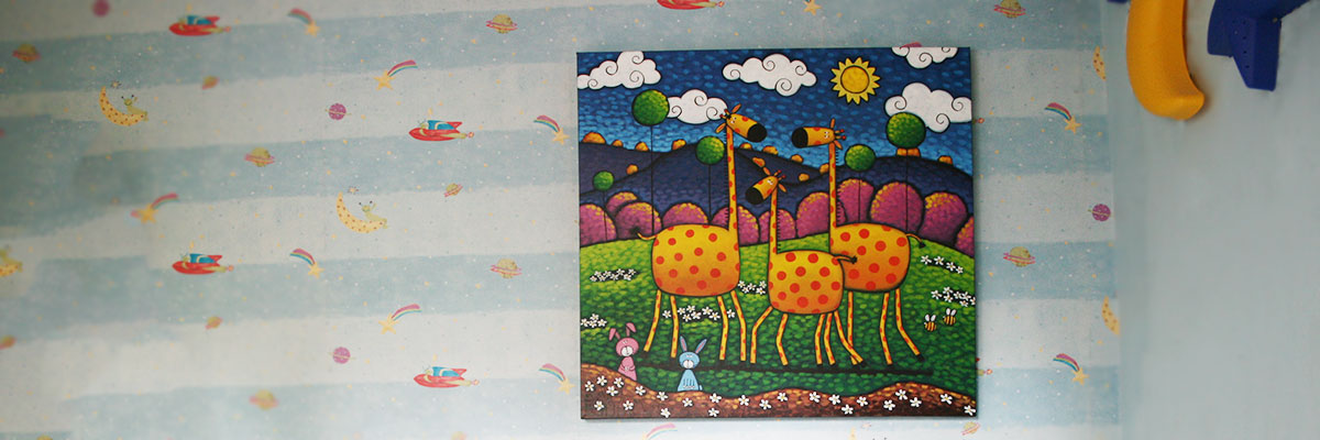 Cool Art Extra Large Amber Giraffiti Painting