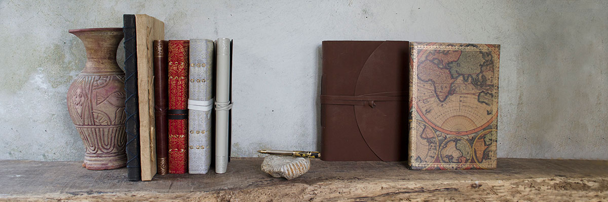 columbus handmade recycled leather journal