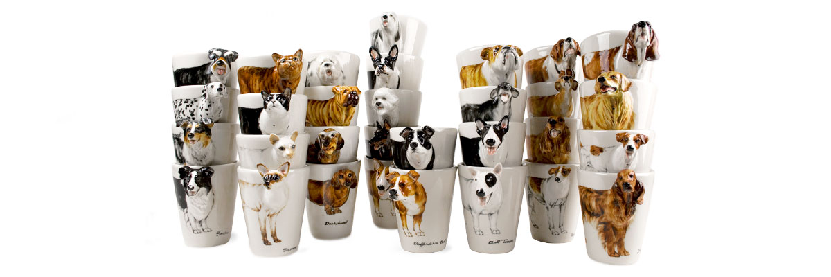 dog handmade coffee mugs