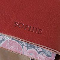 Firenze Journal, Personalised, One Line, Blind Embossed.