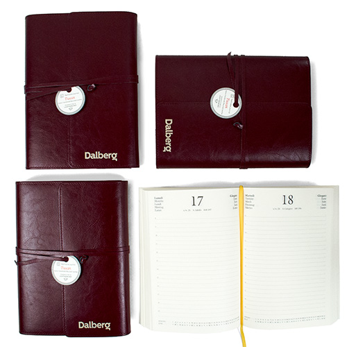 Branded Tuscan Recycled Leather Planner