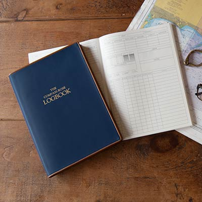 personalised leather yacht logbook