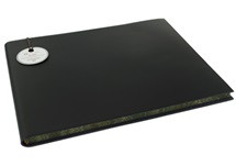 Picture of Acuto Handmade Italian Leather Bound Extra Large Guest Book Black