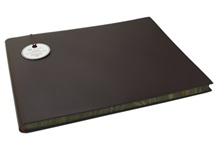 Picture of Acuto Handmade Italian Leather Bound Extra Large Guest Book Chocolate