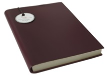 Picture of Acuto Handmade Italian Leather Bound A5 Journal Burgundy lined