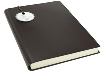 Picture of Acuto Handmade Italian Leather Bound A5 Journal Chocolate Plain