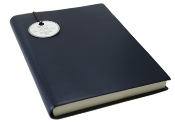 Picture of Acuto Handmade Italian Leather Bound A5 Journal Navy Plain
