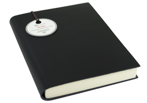Picture of Acuto Handmade Italian Leather Bound A6 Journal Black Plain