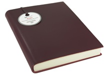 Picture of Acuto Small Burgundy Handmade Italian Leather Bound Journal