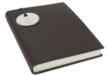 Picture of Acuto Handmade Italian Leather Bound A6 Journal Chocolate Plain