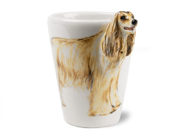 Picture of Afghan Hound Handmade 8oz Coffee Mug Gold