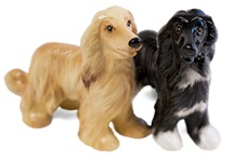 Picture of Afghan Hound Handmade Mini Cruet Set Gold And Black