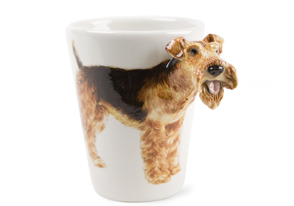 Picture of Airedale Terrier Handmade 8oz Coffee Mug Black and Tan