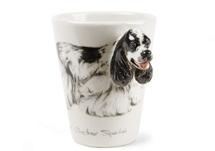 Picture of American Cocker Spaniel Handmade 8oz Coffee Mug Black and White