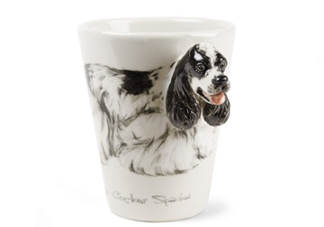 Picture of American Cocker Spaniel Handmade 8oz Coffee Mug Black and White