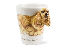 Picture of American Cocker Spaniel Handmade 8oz Coffee Mug Gold