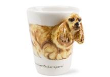 Picture of American Cocker Spaniel Handmade 8oz Coffee Mug Gold