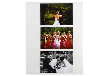 Picture of Archiva 4x6 Pockets Landscape Large Photo Album Pages White