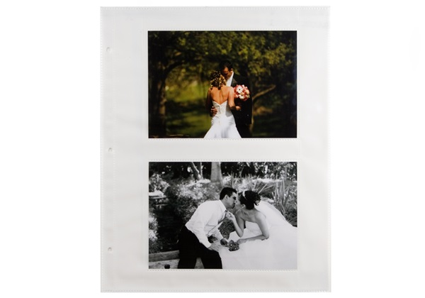 Picture of Archiva Large White 5x7 Pockets Photo Album Pages