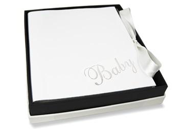 Picture of Bambino Handmade Italian Leather Bound Medium Photo Album White