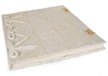 Picture of Bark Handmade A4 Journal White Plain