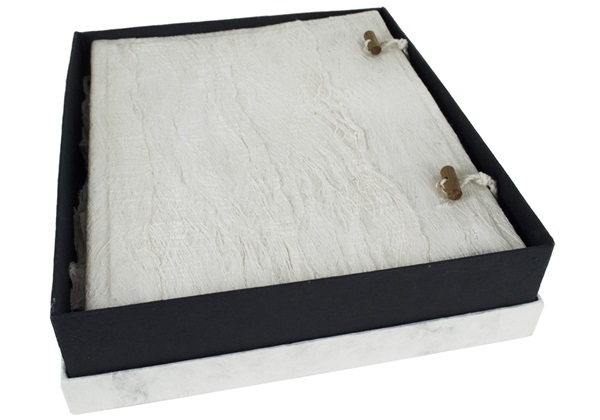 Picture of Bark Handmade Large Photo Album White