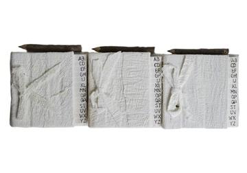 Picture of Bark Handmade Hand Bound Mini Stocking filler White Plain