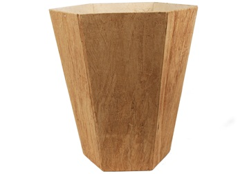 Picture of Bark Handmade Regular Waste Paper Basket Natural