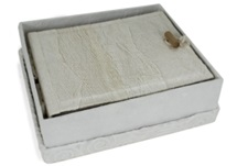 Picture of Bark Handmade Small Photo Album White
