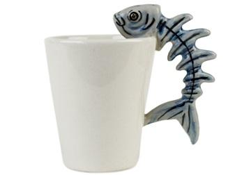 Picture of Barracuda Handmade Ceramic 8oz Coffee Mug Blue