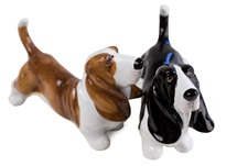 Picture of Basset Hound Handmade Mini Cruet Set Brown And Black