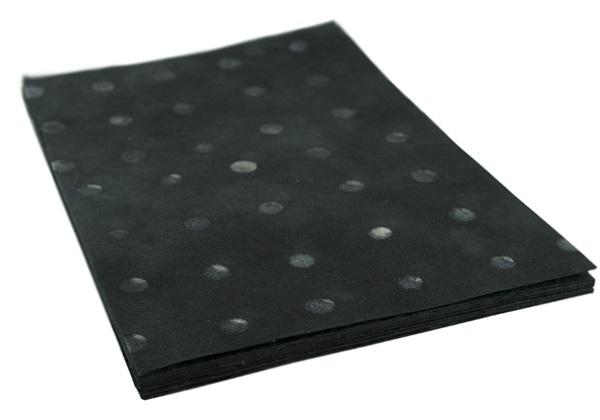 Picture of Batik Polka Dot A4 Handmade Paper Black Ash