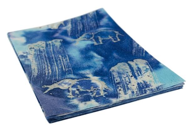 Picture of Batik Elephant A4 Handmade Paper Blue