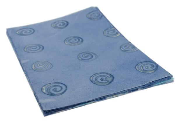 Picture of Batik Shell A4 Paper Blue