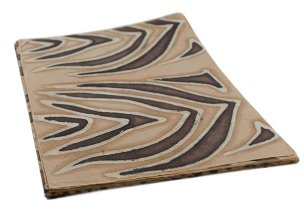 Picture of Batik Crown A4 Handmade Paper Brown