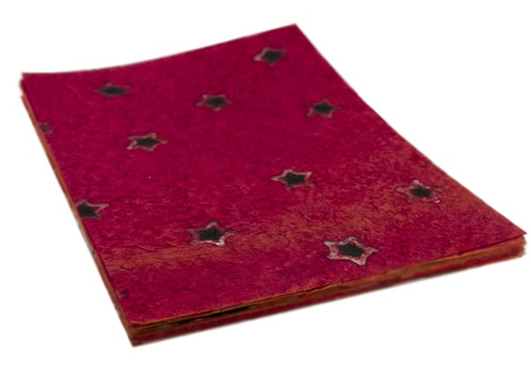 Picture of Batik Star A4 Handmade Paper Red