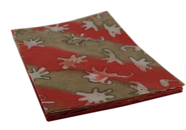 Picture of Batik Amoeba A4 Paper Redwood