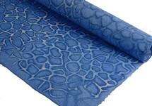 Picture of Batik Giraffe Poster Handmade Paper Blue