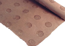 Picture of Batik Shell Poster Paper Brown