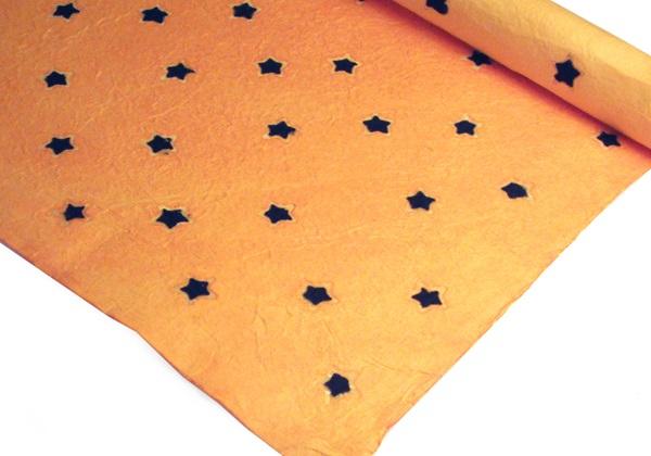 Picture of Batik Star Poster Handmade Paper Yellow