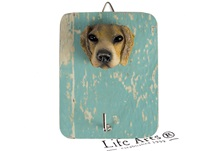 Picture of Beagle Handmade Rustic Single Wall Hook Tan