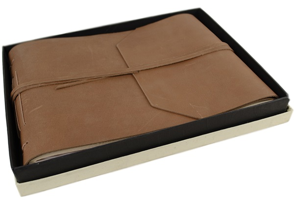 Picture of Beatnik Handmade Leather Wrap Large Photo Album Tan