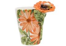 Picture of Bee Handmade 8oz Coffee Mug Orange