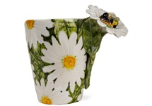 Picture of Bee Handmade 8oz Coffee Mug White And Yellow