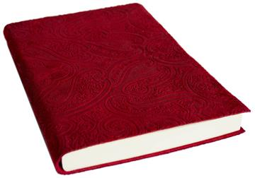 Picture of Bellagio Large Red Plum Handmade Italian Leather Bound Journal