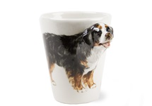 Picture of Bernese Mountain Dog 8oz Black Tricolor Handmade Coffee Mug