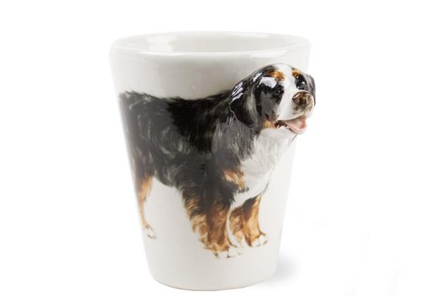 Picture of Bernese Mountain Dog Handmade 8oz Coffee Mug Black Tricolor