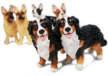 Picture of Bernese Mountain Dog Mini Black Tricolor Handmade Cruet Set