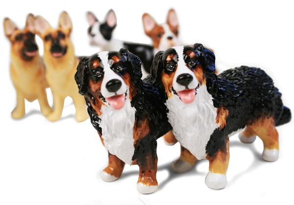 Picture of Bernese Mountain Dog Handmade Mini Cruet Set Black Tricolor