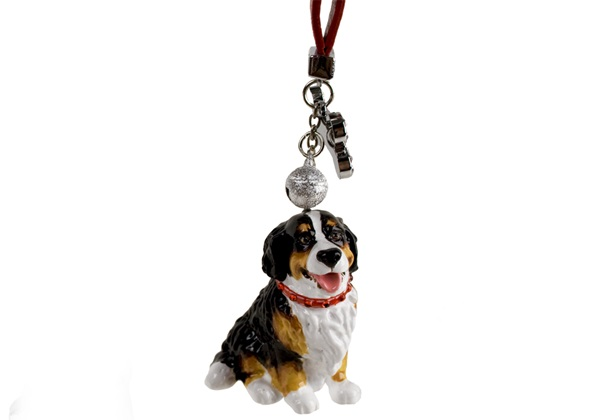 Picture of Bernese Mountain Dog Handmade Mini Key Ring Black Tricolor